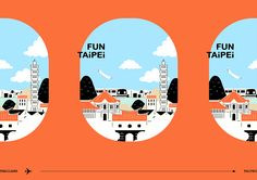 Fun Taipei 2017 on Behance Landscape Illustration, Graphic Design Illustration, Illustration Art, Web Design, Design Art, Creative Poster Design, Magazine Layout Design, Zentangle Drawings, Badge Design