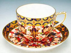 Royal Crown Derby 1878 Cup and Saucer Antique China, Vintage China, Tea Cup Saucer, Tea Cups, Antique Tea Sets, Royal Crown Derby, Tea Art, My Cup Of Tea, Tea Bowls