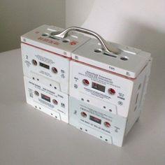 cassettebandje recycle opbergbox
