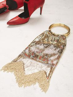 Free People Vienna Double Ring Clutch by *Whiting & Davis , $418.00