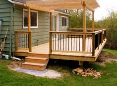 Small Deck Pictures and Ideas decks backyard ideas backyard deck designs backyard deck ideas small backyard patio patio design ideas patio deck design Patio Deck Designs, Patio Design, Small Deck Designs, Deck With Pergola, Pergola Shade, Pergola Kits, Pergola Ideas, Pergola Roof, Cheap Pergola