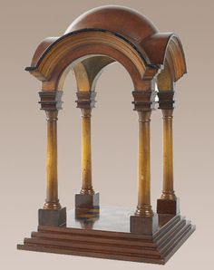 Renaissance Cupola Honey Wood Gazebo Architectural Model