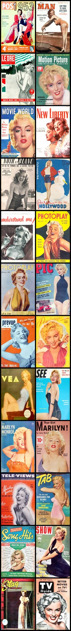 1953 magazine covers of Marilyn Monroe