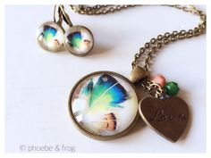 Bronze Feathers Set Perfect Match, Feathers, Bronze, Pendant Necklace, Jewelry, Fashion, Jewellery Making, Moda, Jewerly