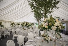 Classical English wedding at the beautiful Le Talbooth Marquee in Dedham, Essex. Wedding Gallery, Table Decorations, Furniture, Beautiful, Home Decor, Interior Design, Home Interior Design, Arredamento, Dinner Table Decorations