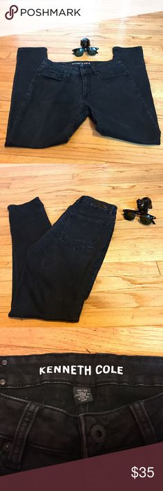 Kenneth Cole New York | Faded Black | Size: 30x30 Faded Black Denim Kenneth Cole New York Slim-Fit | Used | Great Condition | Thick Material | Can Dress it up or Down (T-Shirt or Dress Shirt) Kenneth Cole Jeans Slim