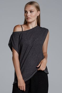 CKONTOVA sleeveless ribbed top for comfy styles allday. Ribbed Top, Fall Winter, Comfy, Grey, Black, Tops, Style, Fashion, Gray