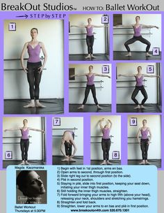 BreakOut Studios Presents... How To: Ballet WorkOut! I do 100 plie squats almost daily; such a great exercise for your inner thighs!