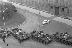 Soviet troops and most of their Warsaw Pact allies invaded Czechoslovakia on August to halt political liberalization in the country called the Prague Spring. Marie Curie, Mahatma Gandhi, Steve Jobs, Prague Spring, Warsaw Pact, Visit Prague, Military Armor, Tank I, War Photography