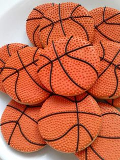 Amazing Basketball Party Food Ideas that are perfect for a March Madness Party! Hit the court with some fantastic basketball cakes, cookies and dessert ideas. Iced Cookies, Royal Icing Cookies, Cupcake Cookies, Sugar Cookies, Cookie Favors, Flower Cookies, Basketball Cupcakes, Basketball Birthday Parties, Basketball Party Favors