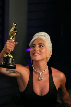 Best Original Song winner for 'Shallow' from 'A Star is Born' Lady Gaga attends . - Best Original Song winner for 'Shallow' from 'A Star is Born' Lady Gaga attends the 2019 Va - # Lady Gaga Albums, Lady Gaga Joanne, Lady Gaga Photos, Jesse Williams, Vanity Fair Oscar Party, A Star Is Born, Original Song, American Singers, Stars