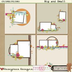 Here is a pack of 4 templates that were created by me.. These templates come in PSD, PNG, PAGE and TIF files for those who use different programs.. These templates are for personal use, commercial use and scrap4hire/others ok..