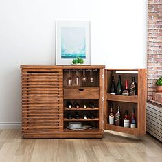 Gotta have this! Turns in to a bar! - Zuo Modern Linea Bar Cabinet in Walnut Zm Home, Walnut Cabinets, Bars For Home, Furniture, Home, Home Bar Furniture, Bar Cabinet, Cabinet, Dining Room Server