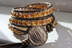 A personal favorite from my Etsy shop https://www.etsy.com/listing/265698664/topaz-and-champagne-3-wrap-bracelet