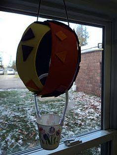 h is for hot air balloon: kindergarten craft!