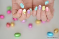 Duckling To Swan : Easter Nails // Pastel and Patterns