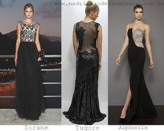 Modelos de vestido de festa preto - Madrinhas de casamento