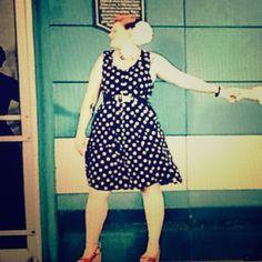 Spotted while shopping on Poshmark: Gorgeous Vintage Polka Dot Dress! #poshmark #fashion #shopping #style #Mlle Gabrielle #Dresses & Skirts