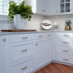 Contemporary Cabinets, Modern Cabinets, Brass Drawer Pulls, Knobs And Pulls, Bathroom Cabinetry, Bathroom Vanities, Shaker Cabinets, Farmhouse Cabinets, Home Hardware