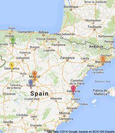 Europe itinerary | 14 days friends trip | RoutePerfect - 1. Barcelona (3 nights), 2. Valencia (2 nights), 3. Toledo (2 nights), 4. Leon (2 nights), 5. Salamanca (2 nights), 6. Madrid (2 nights)