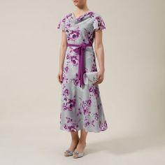 Jacques Vert Peony flower print soft dress- at Debenhams.com