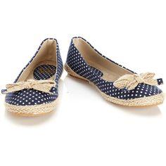 Designer Clothes, Shoes & Bags for Women Navy Blue Shoes, Navy Flats, Polka Dot Pumps, Blue Polka Dots, Bow Shoes, Shoes Heels, Flat Shoes, Shoe Closet, Shoe Bag