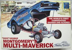 Hobby Heaven 1/25 Ohio George Montgomery's Multi Maverick Funny Car, 21749P plastic model kit