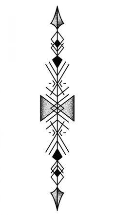 Tattoo Plume, Simbolos Tattoo, Band Tattoo, Tattoo Drawings, Geometric Tattoos Men, Geometric Tattoo Design, Tribal Tattoos, Geometric Arrow Tattoo, Mini Tattoos
