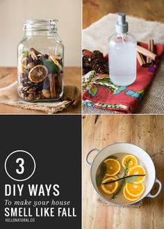 3 Easy, DIY Ways to Make Your House Smell Like Fall! Love these ideas!  I'm starting mine as soon as fall / autumn hits! #diy #fall #autumn