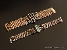Beading Tutorial Luxurious Art Deco Bracelet. by SmadarsTreasure