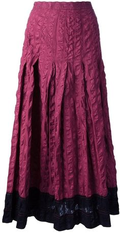 Jean Muir Vintage 1970s textured skirt - was $352.27, now $246.59 (30% Off). Picked by olga @ FarFetch.com