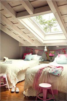 Extensive Kids Bedroom Design Ideas: 140 Ideas Remodel And Decor Attic Bedroom Designs, Bedroom Layouts, Romantic Room Decoration, Room Decorations, Room Interior Design, Bedroom Decor, Master Bedroom, House Design, Home Decor