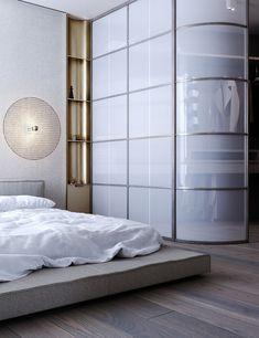 Apartment Projects, Apartment Design, Interior Architecture, Interior Design, Residential Architecture, Room Divider Curtain, Small Space Design, Master Bedroom Closet, Loft