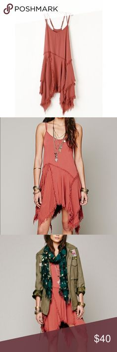 Free People tattered slip worn a handful of times still in perfect condition! Free People Dresses Asymmetrical