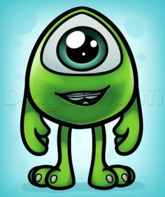 How To Draw Baby Mike Wazowski, Step by Step, Drawing Guide, by Dawn
