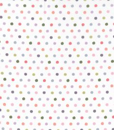 "Keepsake Calico Cotton Fabric 43""-Multi Dots"