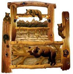Talo / 4 in. Treibholz Kronleuchter Treibholz - - Talo / 4 in. Rustic Log Furniture, Western Furniture, Furniture Decor, Bedroom Furniture, Furniture Design, Black Bear Decor, Lodge Decor, Cabin Homes, Log Homes