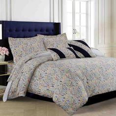 Fiji 300-Thread Count Egyptian Cotton Sateen 5-pc. Duvet Cover Set, Multicolor
