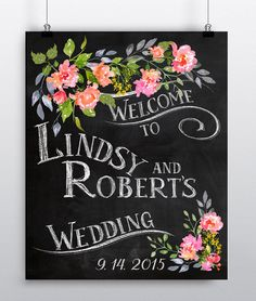 Wedding Welcome Chalkboard Spring Summer and Fall sign.jpg