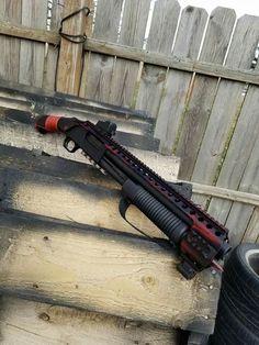 Airsoft Guns, Shotguns, Weapons Guns, Guns And Ammo, Firearms, Combat Shotgun, Mossberg 500, Tactical Shotgun, Combat Gear