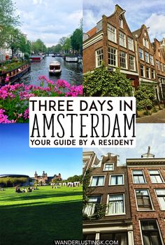 Figuring out the best things to do in Amsterdam? Your insider guide to Amsterdam with a complete itinerary for Amsterdam with a map written by a resident. Includes what to do for three days in Amsterdam! Europe Destinations, Europe Travel Tips, Travel Advice, Travel Guides, Places To Travel, Places To Visit, Travel Hacks, Travel Essentials, New Amsterdam