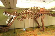 balloonosaurus. balloon dino sculpture by mark verge