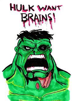 Hulk Zombie by Bbedlam.deviantart.com on @deviantART