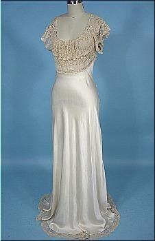 1930's Bias Silk Negligee