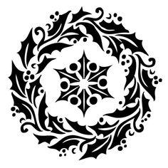Holly Wreath Laser-cut Cake Stencil por PearlDesignStudio en Etsy