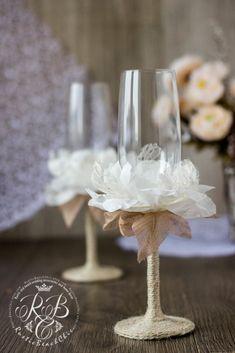 Wedding Toasting Glasses Rustic Toasting Flutes Wedding