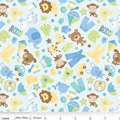 Riley Blake Designs: C3540-BLUE