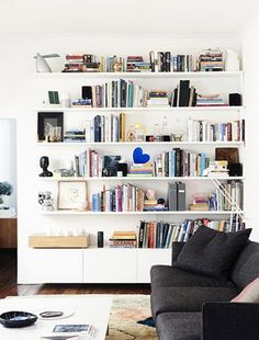 Give your bookshelves a serious face-lift by integrating some of these elegant accents.