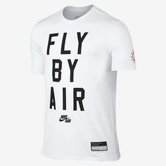 """FLY BY AIR TEE The Nike Air """"Fly By"""" Men's T-Shirt is made with soft cotton for everyday comfort and durability. Product Details Rib crew neck with interior taping Fabric: cotton Machine wash Imported Nike Air, Nike Free, Running, T Shirt, Shirt Men, Tees, Classic, Cotton, Wei Wei"""