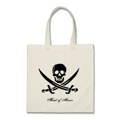 Pirate Flag Wedding Favor Tote Bag